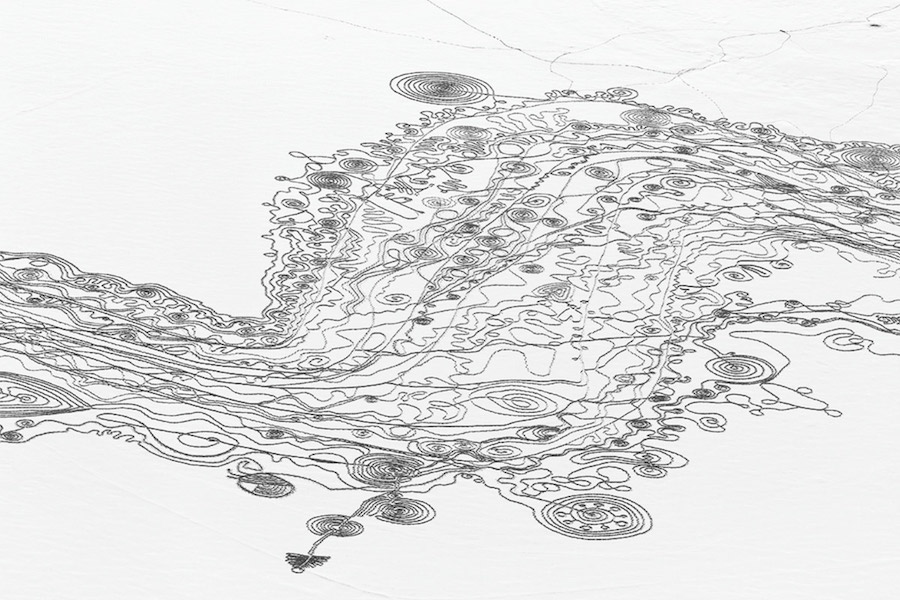 Complex and Artistic Snow Drawings by Sonja Hinrichsen