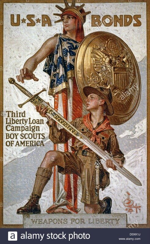 usa-world-war-i-american-poster-showing-liberty-boy-scout-sword-bonds-D0XK1J.jpg