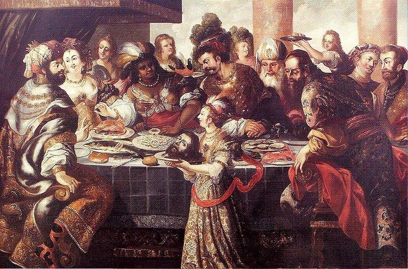 Стефан Кесслер(художник школы Рубенса) Праздник Ирода. 1660..jpg