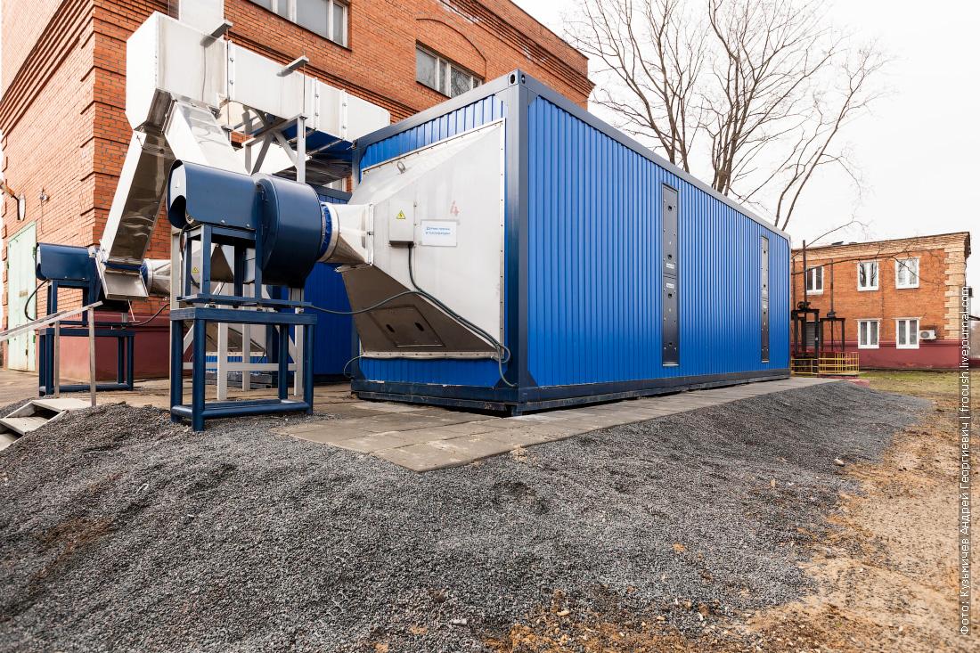 установка по очистке воздуха Люберецкие очистные сооружения