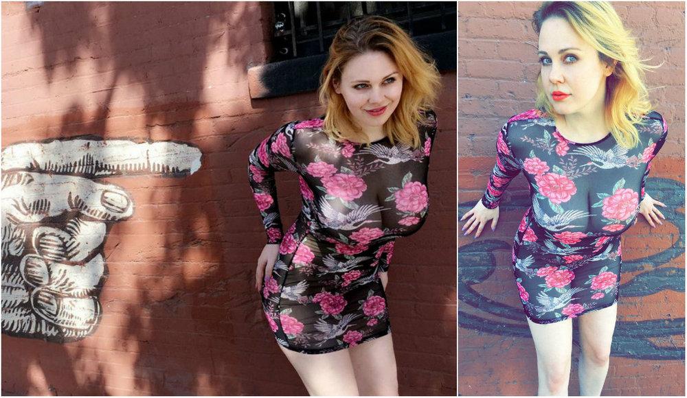 Мейтленд Уорд в просвечивающемся платье