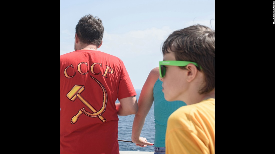 Многое в Крыму напоминало Дидье о российском прошлом: от устаревшей канатной дороги до одежды некото
