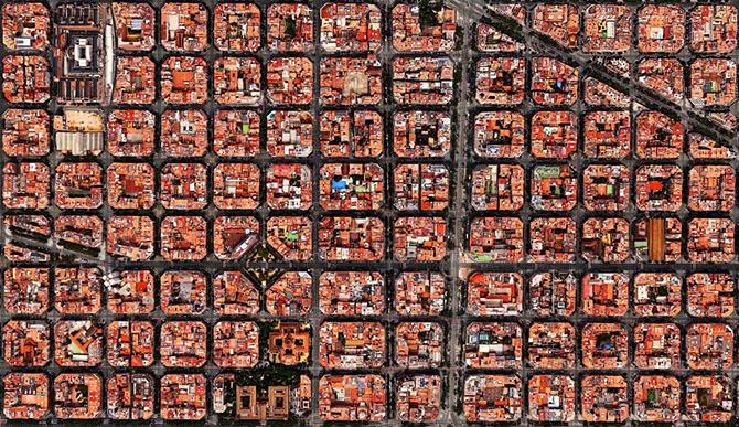 2. Жилые кварталы в Барселоне, Испания.