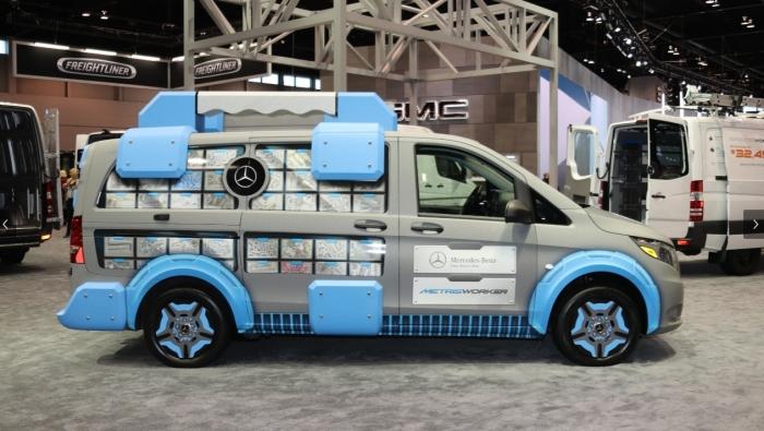 Оригинальный дизайн нового грузовика. Разрабатывался концепт на базе грузовика Mercedes-Benz Vito, п