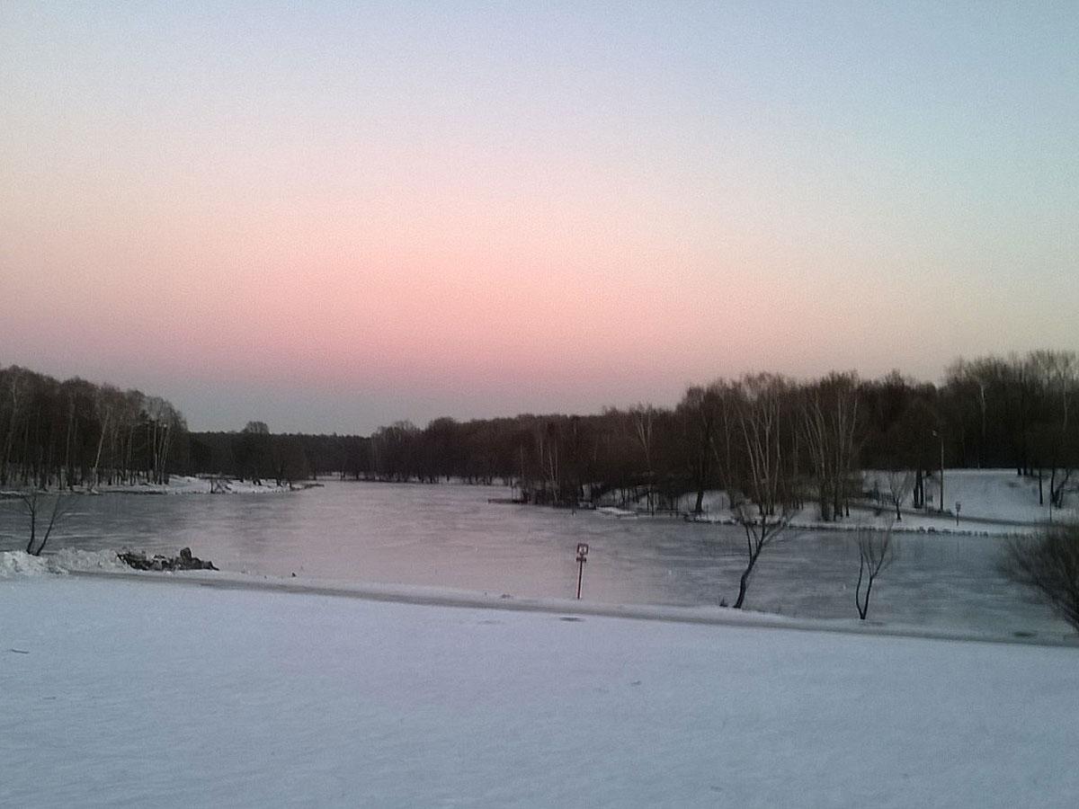 ВТвери работники милиции спасли провалившегося под лед ребенка