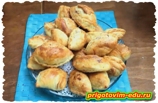 Азербайджанские слоеные пирожки с мясом ЧУДУ