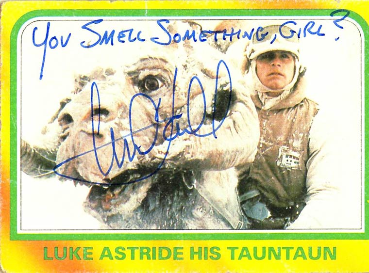 Star Wars - When Mark Hamill was signing hilarious autographs on collectible cards