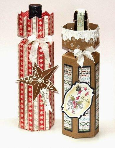 Бумажный декор бутылки