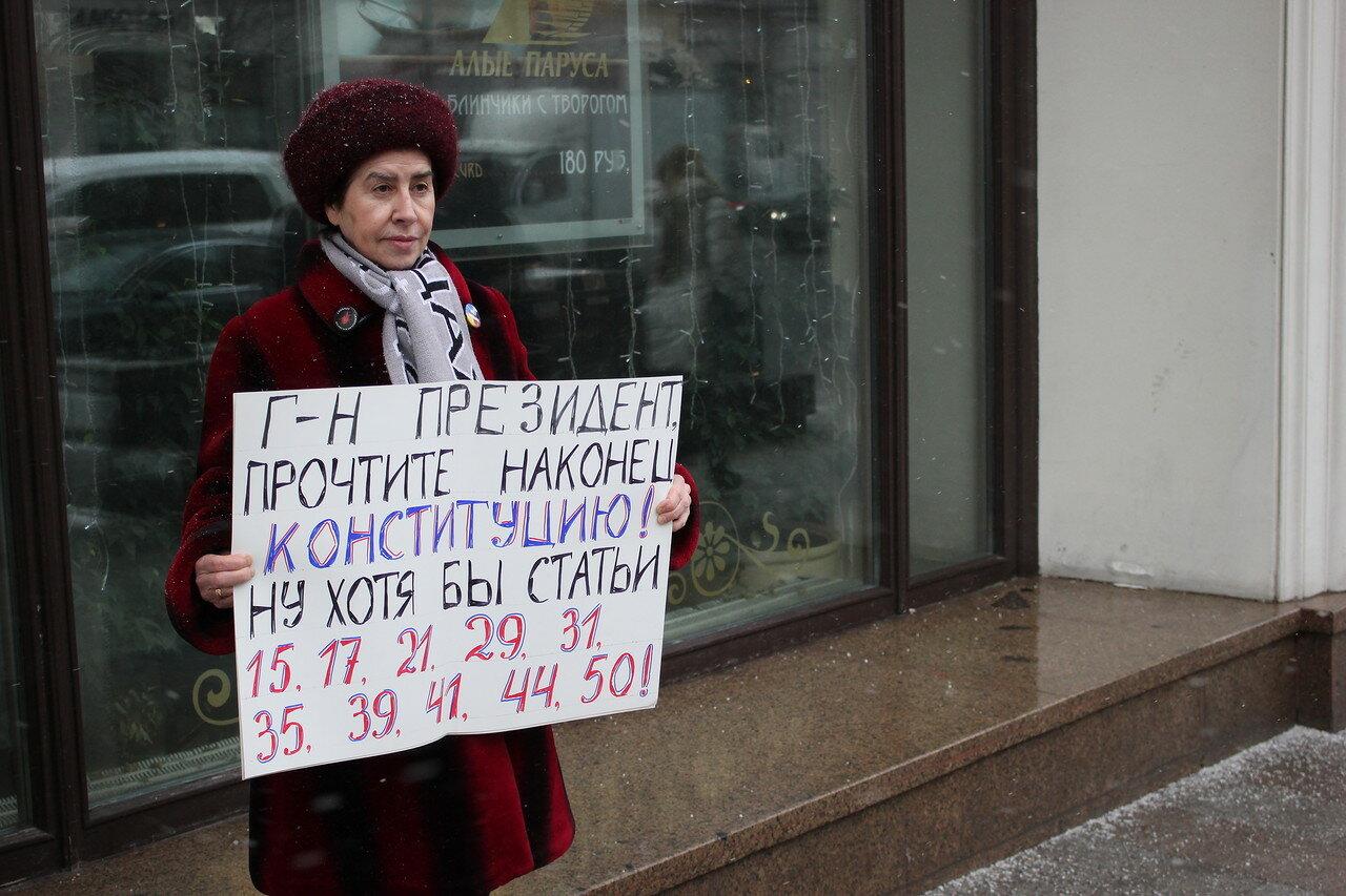 В Москве задержали пикетчиков в защиту Дадина
