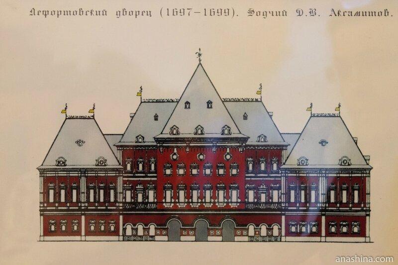 Первоначальный облик Лефортовского дворца