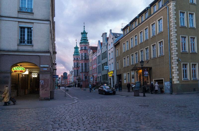 Гданьск в вечернее время