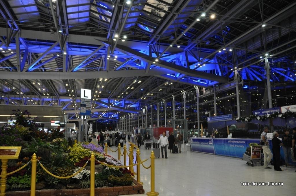 Зона вылета аэропорта Суварнабхуми