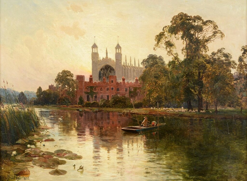 Eton college from the thames, 1882.Jpeg