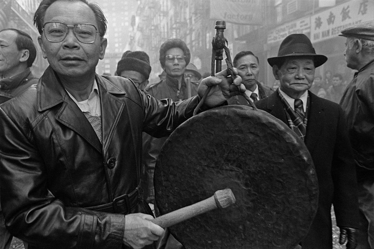 1984. Празднование китайского Нового года на Байяр-стрит в квартале Чайна-таун на Манхэттене