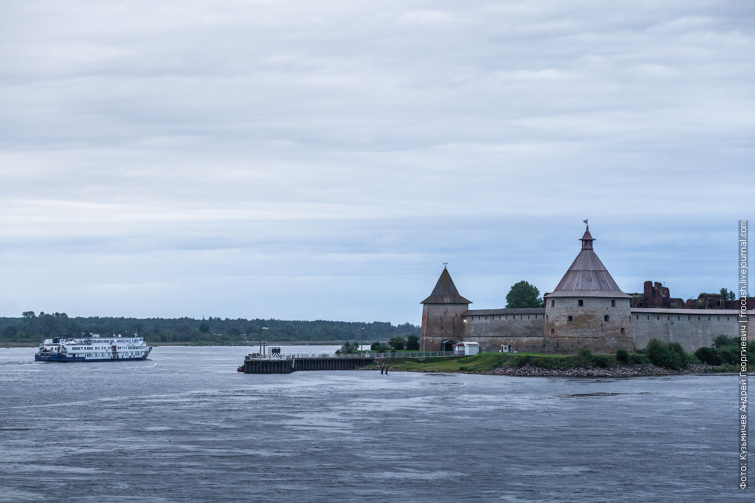 вечернее фото крепость Орешек