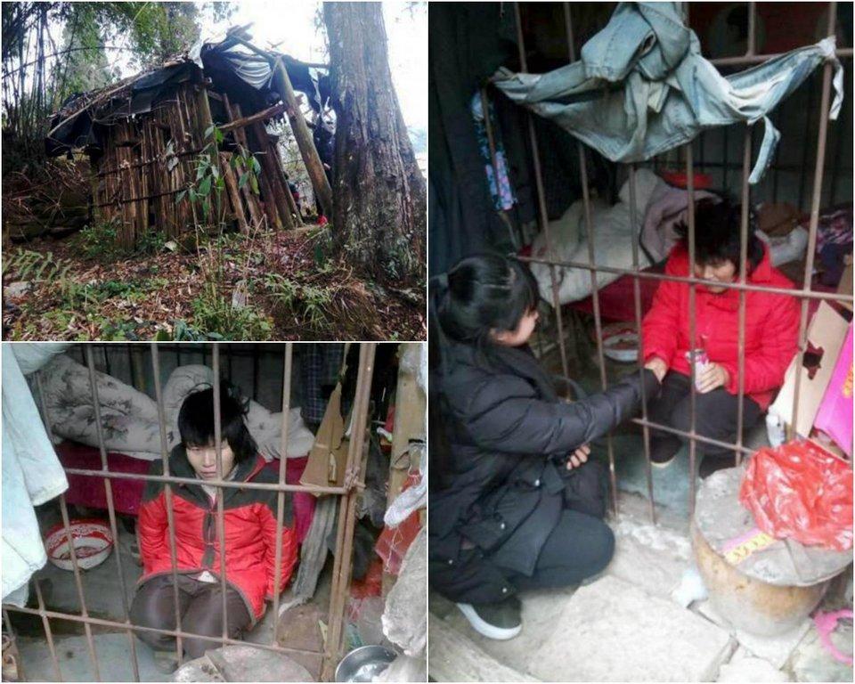 Женщина провела более 10 лет в клетке в китайском лесу