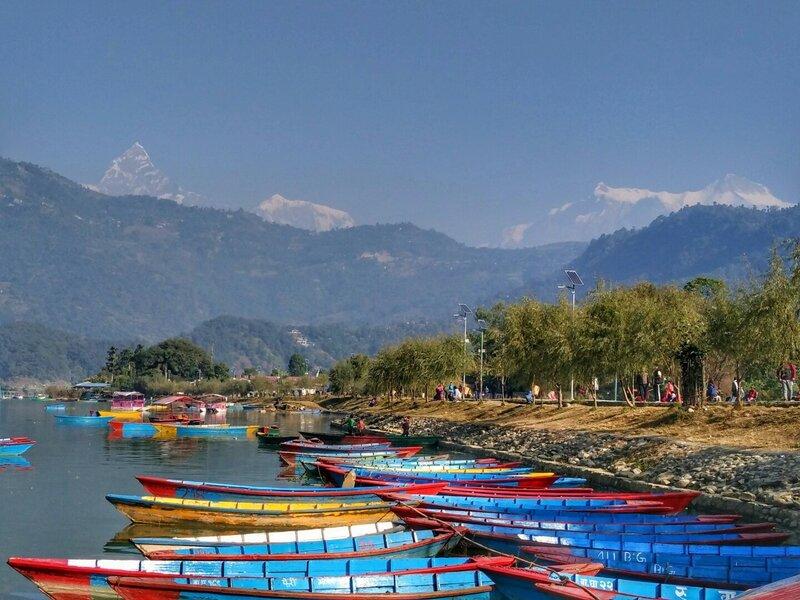 Покхара, ноябрь 2016 в Непале