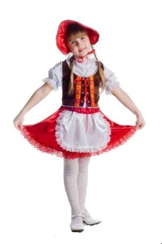 Детский карнавальный костюм Красная шапочка 2