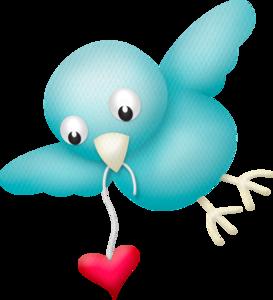 птичка с сердечком
