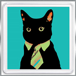 Магнит сувенирный Черный Кот