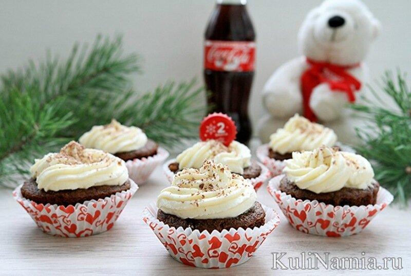 Капкейки на Кока Коле: воздушные с шоколадным вкусом