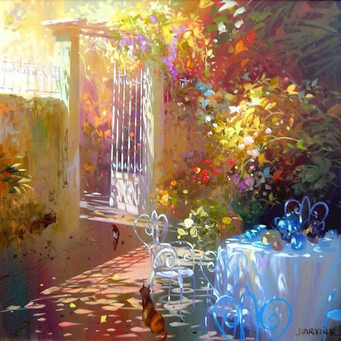 Солнечные картины Лоран Парселье