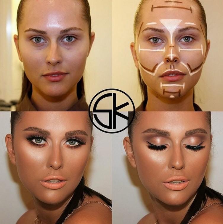 14. Визуальное уменьшение кончика носа