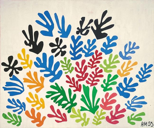 © lacma.org  «Венок», 1953 Всвоих полотнах Матисс старался достичь синтеза рисунка ицвета, и