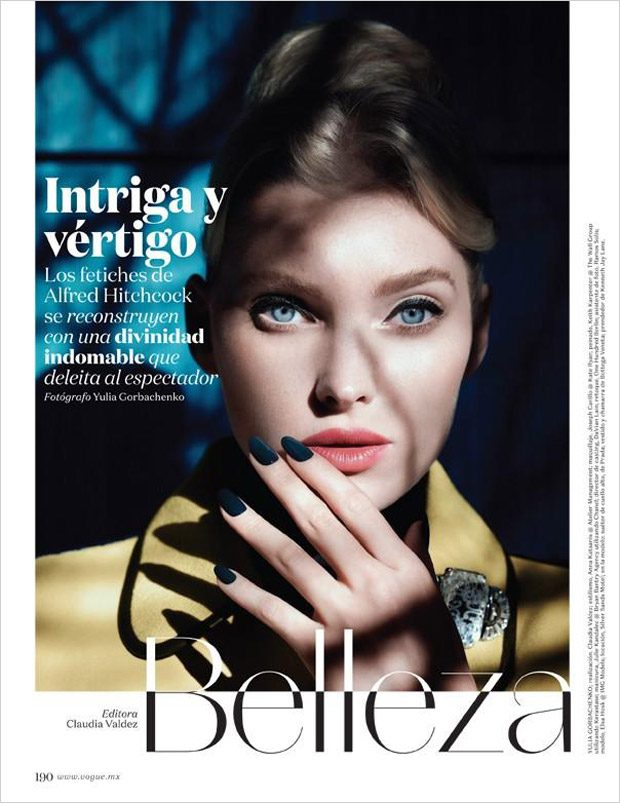 Vertigo: Elsa Hosk Stuns for VOGUE Mexico December 2016 Issue