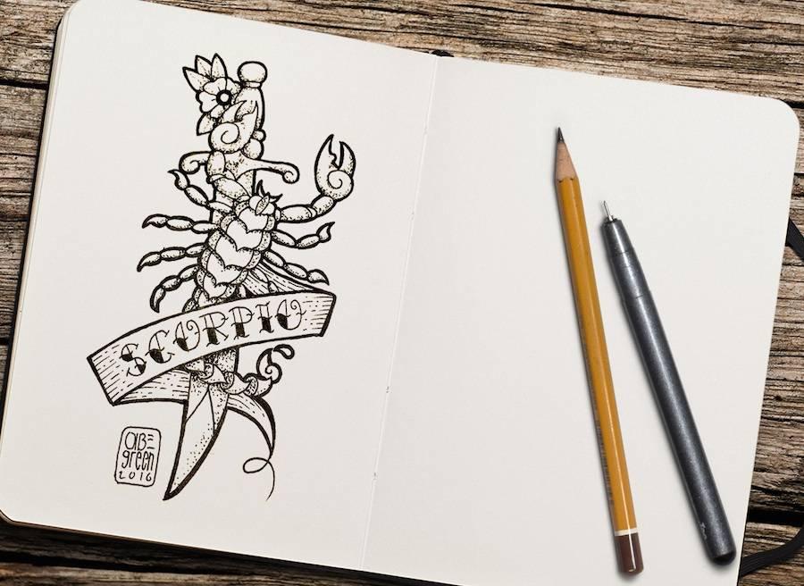Old School Zodiac Signs Tattoos
