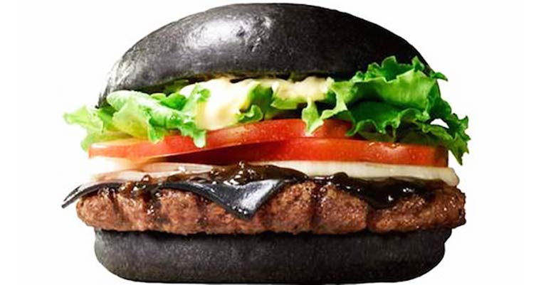 A black cheeseburger for Burger King Japan