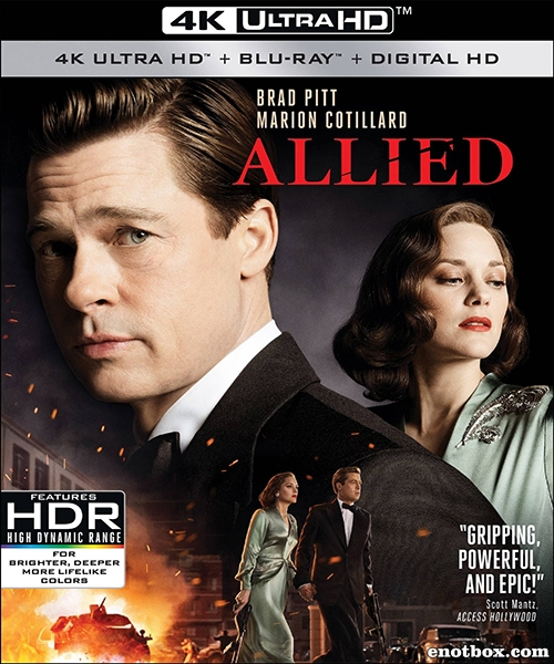 Союзники / Allied (2016/BD-Remux/BDRip/HDRip)