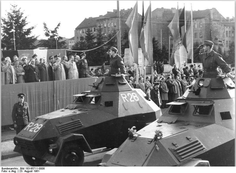 Berlin, Mauerbau, Kampfgruppen, Appell