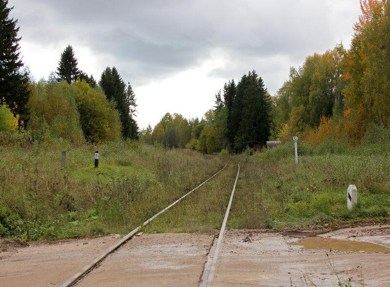 Переезд у платформы Ивановские казармы (358 км), вид на Овинище
