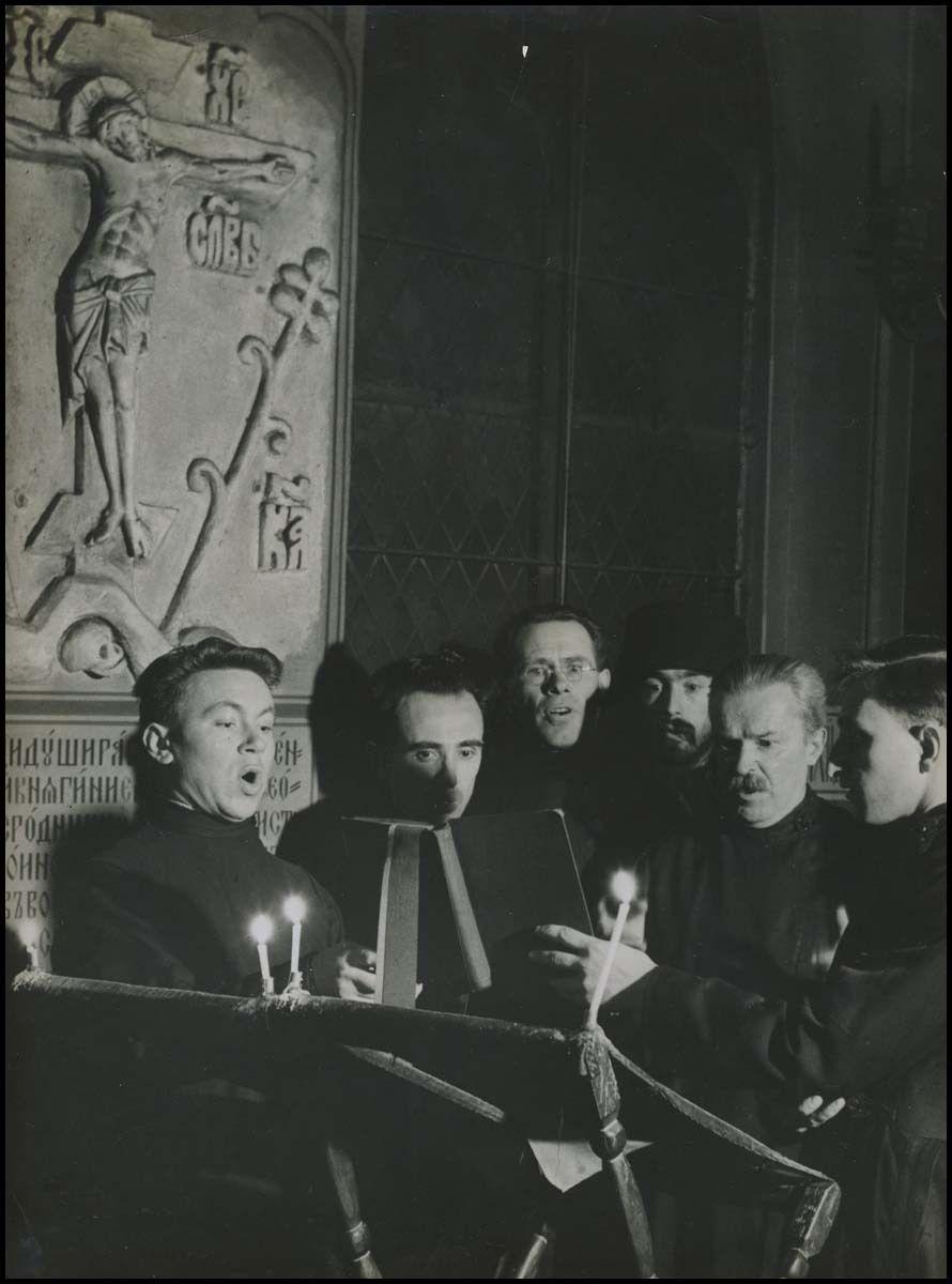 1936. Фотография религиозного хора в Париже
