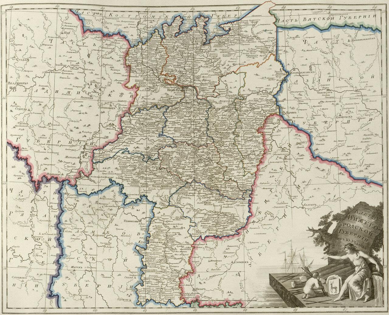 26. Карта Нижегородской губернии