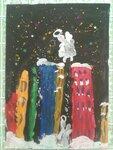 Костарев Владислав (рук. Костарева Татьяна Алексеевна) - Зимний ангел над городом