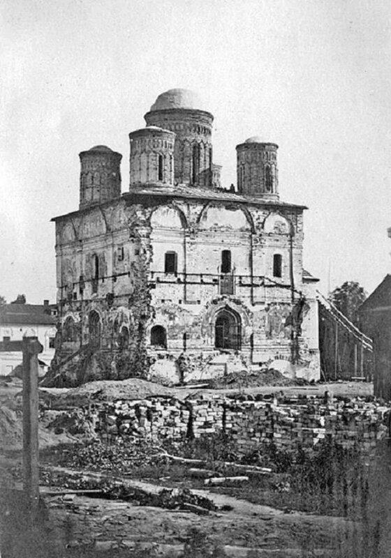 1864 Кострома. Богоявленский монастырь после пожара 1847-го года. Богоявленский собор.jpg
