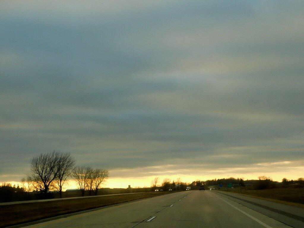 В Канзас на автомобиле.