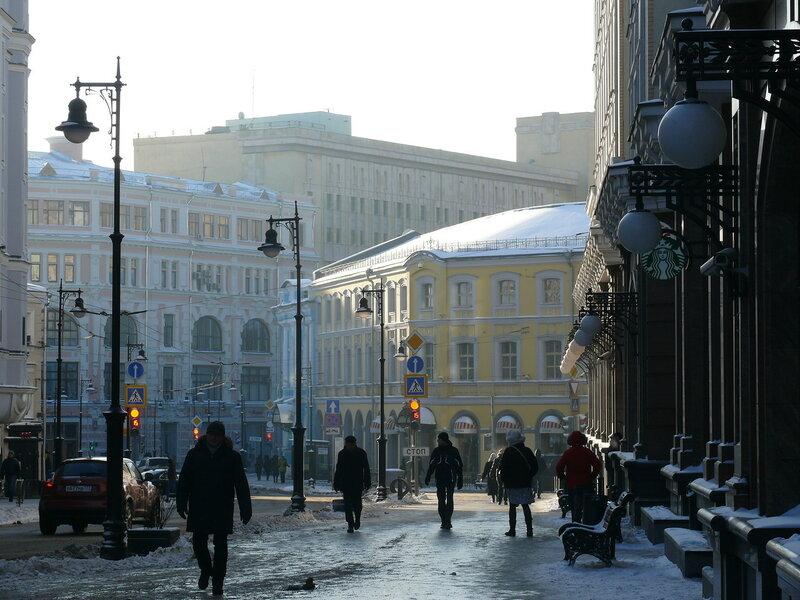 5. Зимой на Мясницкой, Москва.JPG