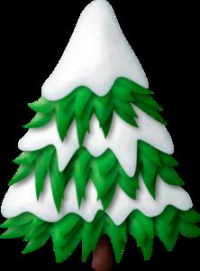 Елка по снегом