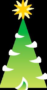 нарисованная елка