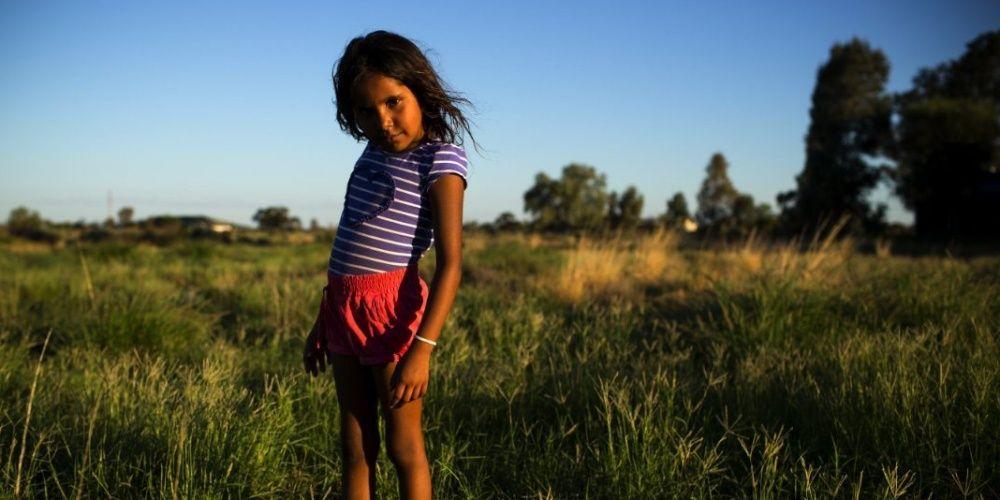 Представительница коренного населения Австралии.