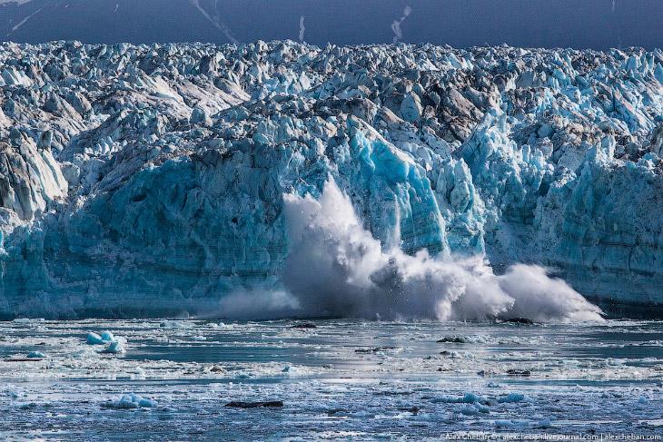 1. Ледник Хаббард (Hubbard Glacier) — долинный древовидный ледник, крупнейший на побережье Аляс
