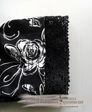 Переделка одежды. Удлиняем рукав Надшиваем рукав кружевом поверх манжета