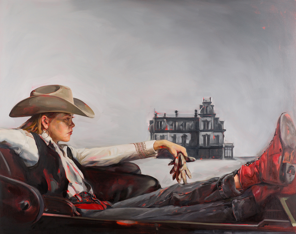 Artist Felice House Reimagines Scenes from Classic Western Films with Female Cowboys as Leads