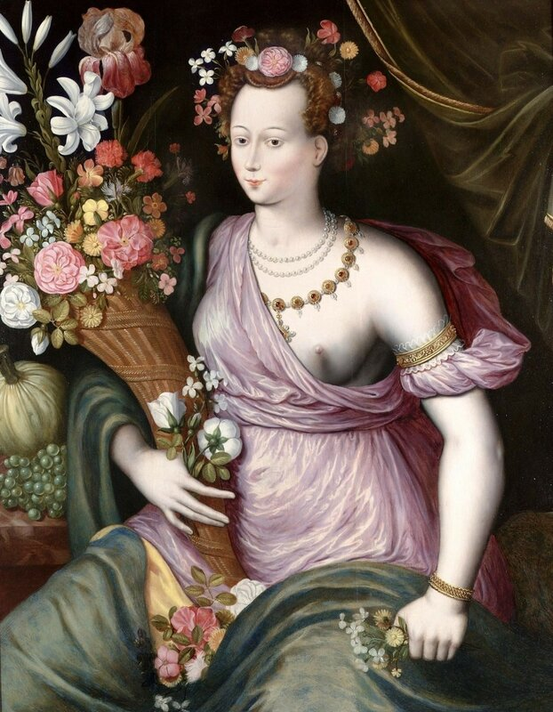 +1580 School of Fontainebleau Portrait of a Lady as the Ceres (2).jpg