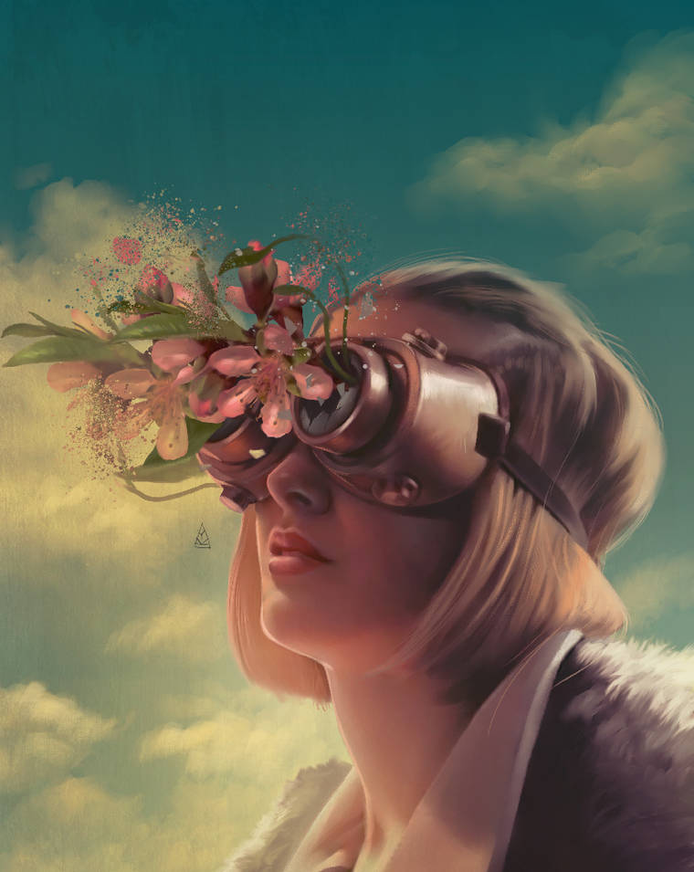 Cosmic Love - Les illustrations poetiques et envoutantes d'Aykut Aydogdu