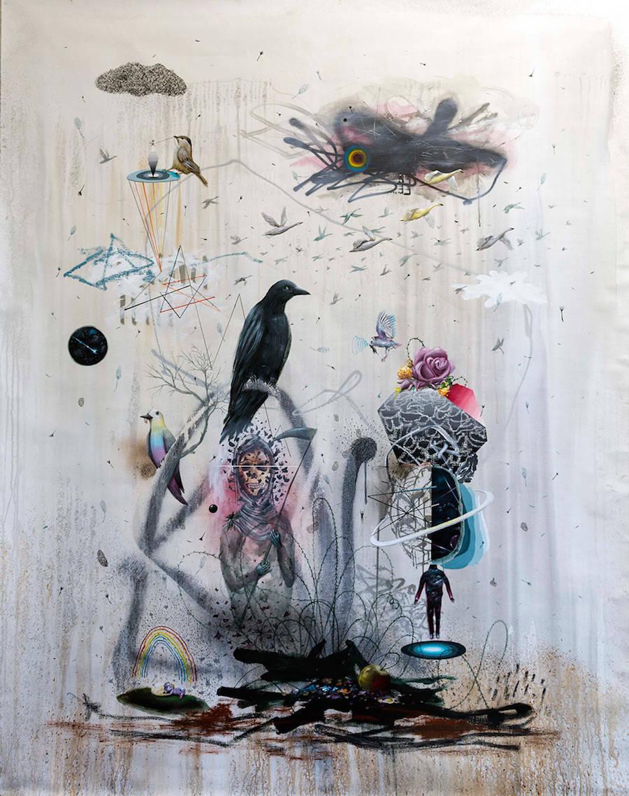 New Stylish Mural & Artwork by Collin van der Sluijs