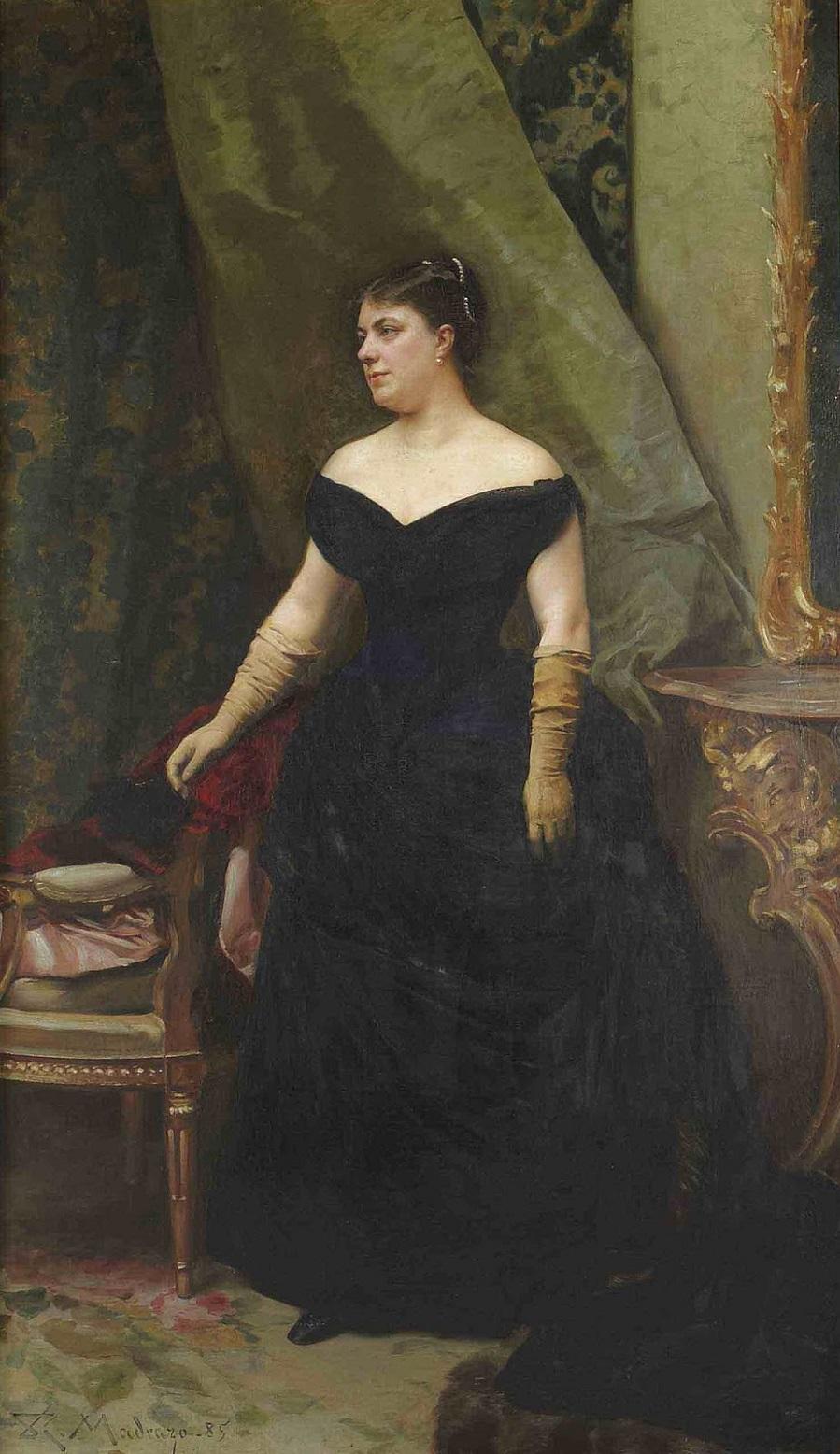 1885_Портрет мадам Исаак Хирш-Канн (Portrait de madame Isaac Hirsch Kann, nee Koenigswarter)_40 x 132_х.,м._Частное собрание.jpg